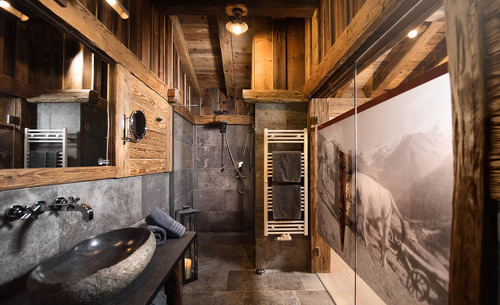 Das hochwertige Designbadezimmer lädt ein zum Erholen- Gletscher Chalet Stubaital