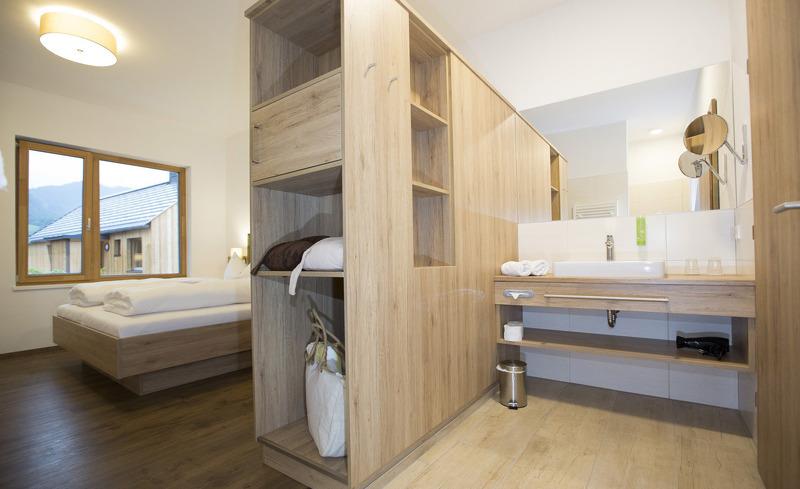 Die luxuriösen Zimmer der Regitnig Chalets strahlen im modernen Ambiente