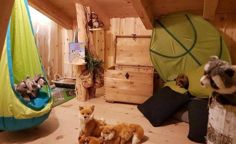 Die Kinderzimmer der Chalets Moll bieten Spiel und Spaß für die Kleinen